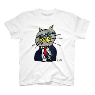 NEKO KEN お父さんネコTシャツ T-Shirt