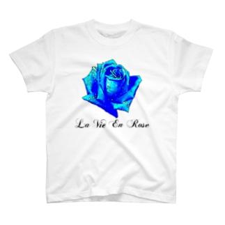 La Vie En Rose-Blue T-shirts