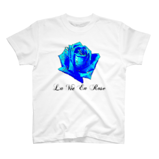 FabergeのLa Vie En Rose-Blue T-shirts
