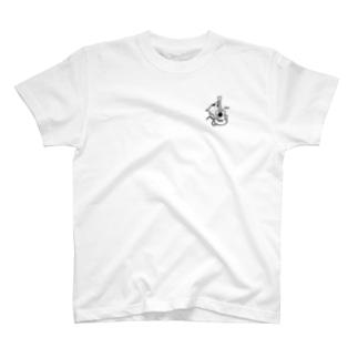 ネコハグウクレレBK T-shirts
