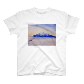 日の出を待つ富士 T-shirts