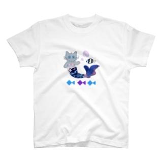 マーメイドキャット T-Shirt