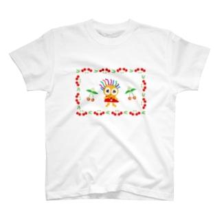 さくらんぼ大好きクレコちゃん T-shirts