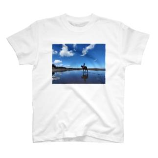 シェアホース 海 風車 T-shirts