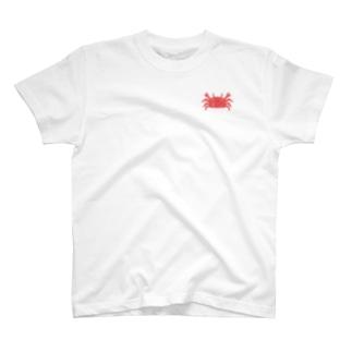 ワンポイントかに T-shirts
