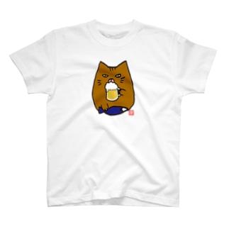 デブ猫ニャポポさん(ニヤリBEER) T-shirts