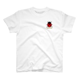 てんとう虫 ワンポイント Tシャツ T-Shirt
