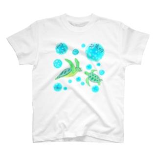 海亀さん ハングルデザイン T-shirts