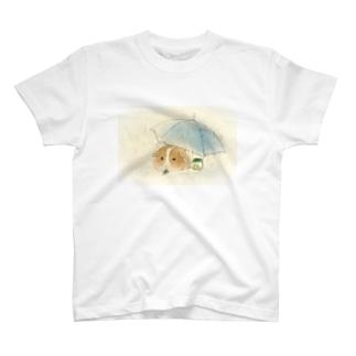 モルモットと傘 T-Shirt