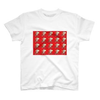 ヤシの木と蝶々の合体女子ダークver. T-Shirt
