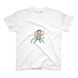 ヤシの木と蝶々の合体女子単体ver. T-Shirt