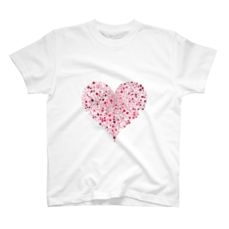 Dots Heart(Red) T-shirts