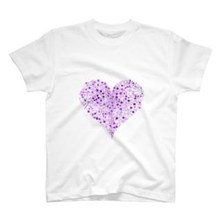 Dots Heart(Purple) T-shirts