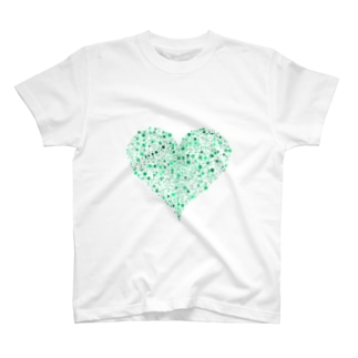 Dots Heart(Green) T-shirts