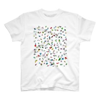 alp【 art love peace】のぴと T-shirts