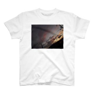 暖かい夕焼け T-shirts