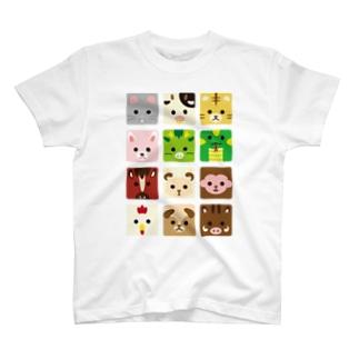 干支-十二支-animal up-アニマルアップ- T-shirts