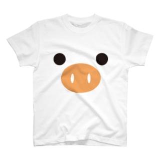 ピッグ-animal up-アニマルアップ- T-shirts