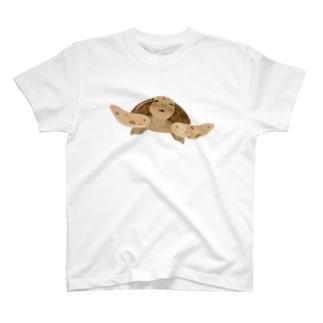 ゆるかわウミガメさん T-shirts