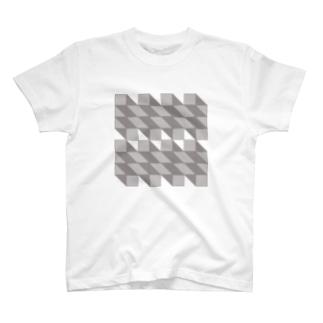 ippai-sikaku-print T-shirts