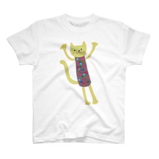 ほそっちょシリーズ(ねこ) T-shirts