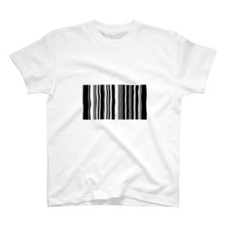 バーコードかくれんぼ T-shirts