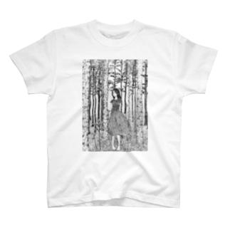 森と少女 T-shirts