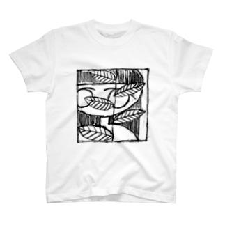 植物とガール T-shirts