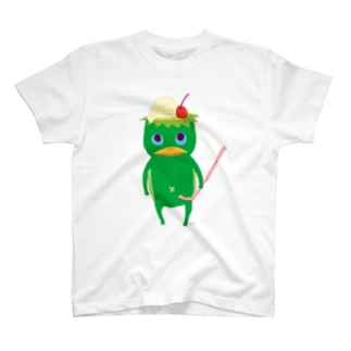 おばけTシャツ<クリームソーダになりたい河童・大> T-Shirt