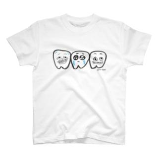 あのちゃんねるSHOPの第一小臼歯&第ニ小臼歯&第三小臼歯 T-Shirt