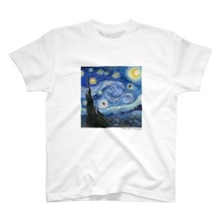 名画を楽しむてんとう虫〜渦を巻く絵画〜 T-Shirt