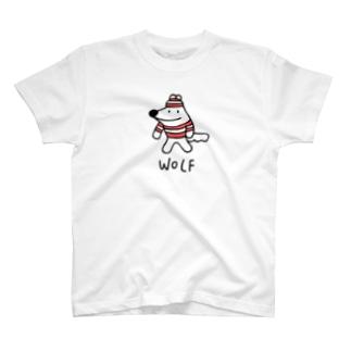 でかいボーダーウルフくん T-shirts