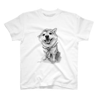 柴犬18モノトーン T-Shirt