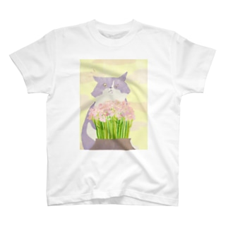 猫と花 T-shirts