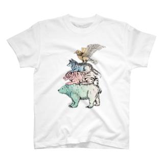 猛獣ブレーメン(color) T-shirts