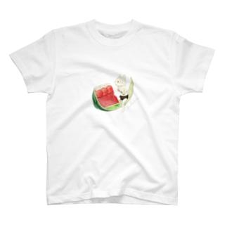 ネコぱんとスイカゼリー  T-Shirt