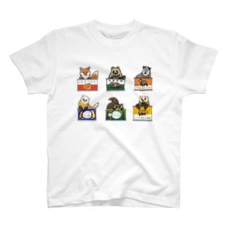 野生動物缶 6点セット T-shirts