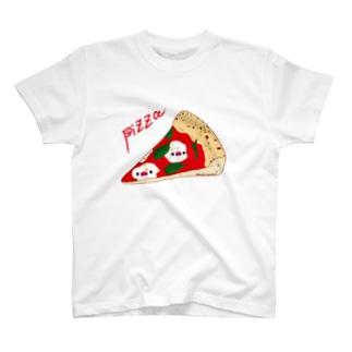 Draw freelyのピザ T-Shirt