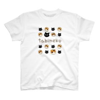 たびねこ-かおドット T-shirts