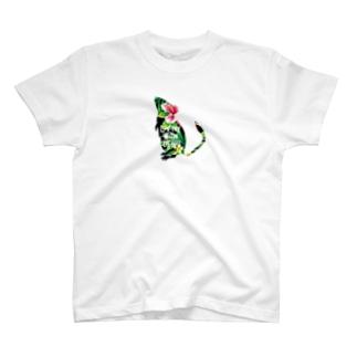 ボタニカル柄degu T-shirts