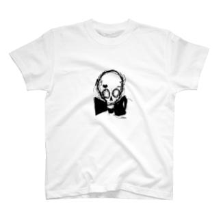 スカル×蝶ネクタイ T-shirts