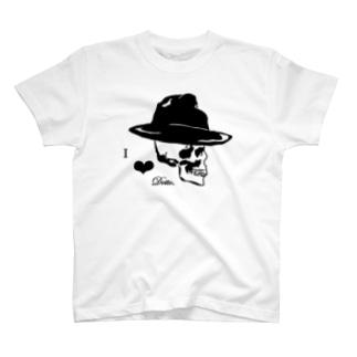 スカル×ハット T-shirts