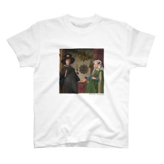 名画を楽しむてんとう虫〜手をつないでいる絵画〜 T-Shirt