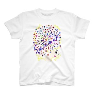 アフロちゃん花火 T-shirts