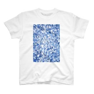 キラキラ001(ブルー) T-shirts