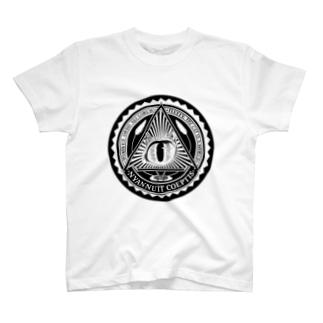 Nyalluminati(ニャルミナティー)Tシャツ ブラック T-Shirt