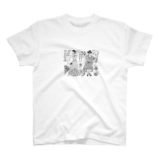 フラメンコ ベラーノ コルドベスとカスタネットのバイラオーラ T-Shirt