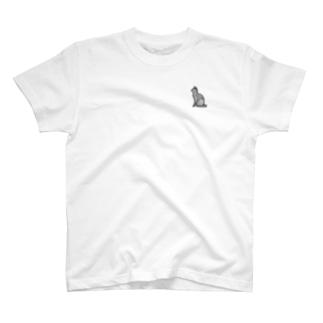 猫輪(ねこりん)黒 T-shirts