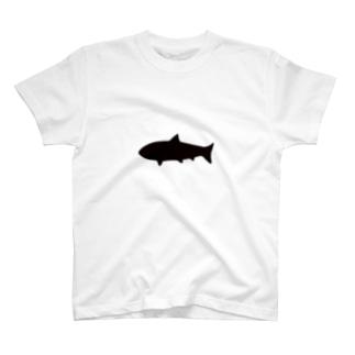とてもシンプルなサメ T-shirts