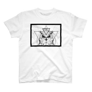 TRI ANIMA【Owl 01】 T-shirts